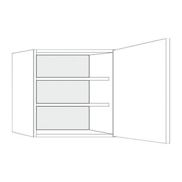 Witte Keuken Bovenkastjes : B.kast eco1 60x57 1x32cm re fm bovenkasten