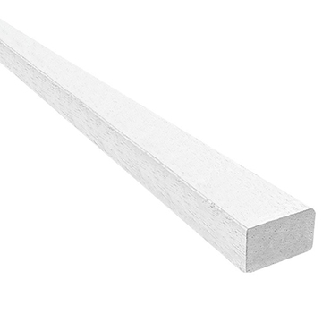 Meranti glaslat wit recht 17x33mm product photo