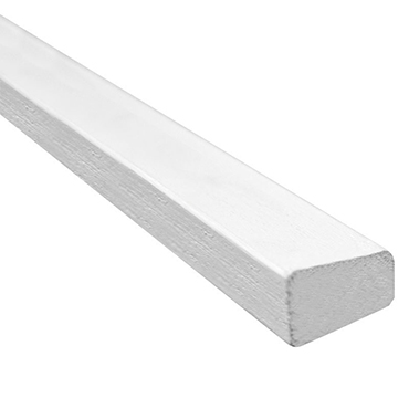 Meranti glaslat 2x wit schuin 15x33mm product photo