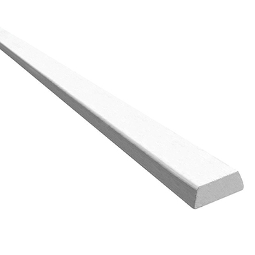 Meranti glaslat 2x wit plat schuin 13x33 product photo